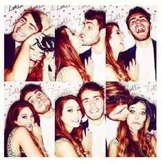 zoe and alfie(pointlessblog) ( zalfie) on zoes beauty launch party in the photo booth xx