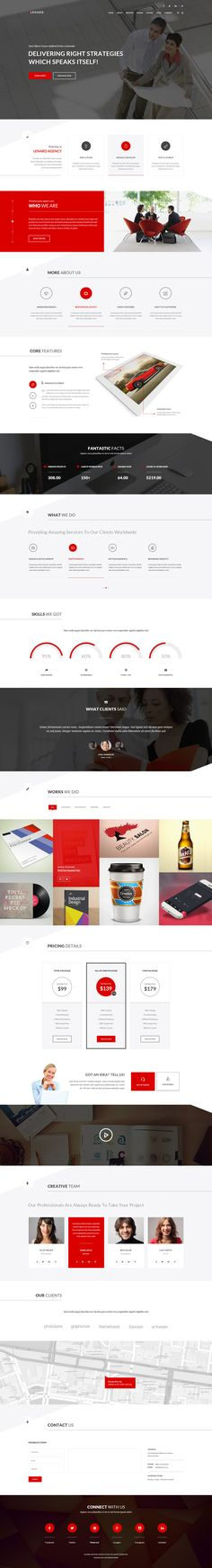 Lenard - One Page Template