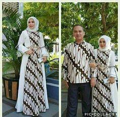Batik muslimah Batik Fashion, Abaya Fashion, Muslim Fashion, Batik Kebaya, Kebaya Dress, Blouse Batik, Batik Dress, Batik Muslim, Batik Parang