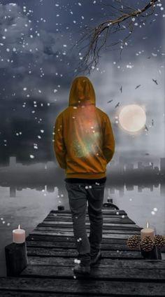 Alone Boy sea - Wallpaper Green Background Video, Green Screen Video Backgrounds, Black Background Wallpaper, Iphone Background Images, Light Background Images, Photo Backgrounds, Wallpaper Backgrounds, Beautiful Scenery Pictures, Beautiful Nature Scenes