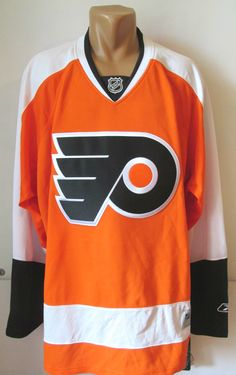 Bnwt philadelphia flyers 2010 2014 nhl home ice hockey jersey shirt reebok  (xl) a18ce38e7