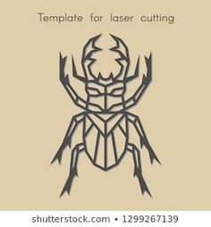 Template animal for laser cutting. Abstract geometric stag beetle for cut. Stencil for decorative panel of wood, metal, paper. Geometric Quilt, Geometric Drawing, Geometric Art, Beetle Drawing, Illustration, Portfolio, Origami, Pyrography, Cross Stitching