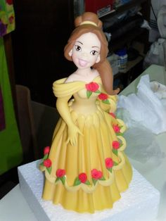 #Disney, Beauty and the Beast, Belle #clay #cake #toppers by Wilson Cabral