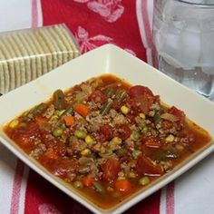 "Quick and Easy Vegetable Beef Soup | ""Very good and very quick to get on the table."""