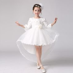 >> Click to Buy << 2017 Summer Kids Dress Princess Flower Baby Toddler Girls Dresses Clothes Flare Sleeve Embroidery Three Quarter Ankle-length 29  #Affiliate