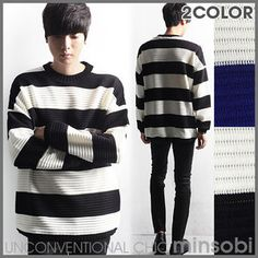Men's Loose Knit Sweater (top-7350)