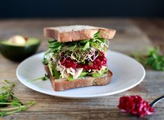 Turkey Sprout & Avocado Sandwich with Mom's (Unreal!) Beet Horseradish //Dairy Free, Gluten Free & Can be Paleo too! // nutritionistinthekitch.com