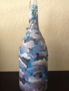 Stormy wine bottle