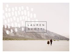 The final logo direction for photographer Lauren Scotti. See more at http://saturdaystudio.com