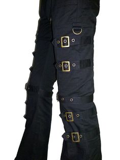 Steampunk pants with buckles