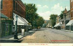 Vintage Postcards, Vintage Photos, Excelsior Springs, Clay County, Historical Photos, Old Photos, Missouri, Broadway, Street View