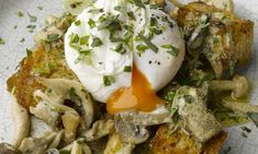 Mushroom ragout with poached duck egg (No duck egg? No problem. (1) Make the garlic-sourdough croutons crostini-size and top with the ragout. or (2) Toss the ragout with your favorite pasta (and maybe throw in some cherry tomatoes for color).)