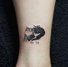 Small Cats Tattoo by Sol Art #CatTattoo