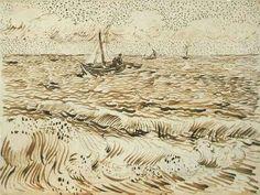 A Fishing Boat At Sea 1888