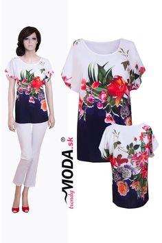 30f3e2e49462 Kvetovaná elegantná dámska blúzka pre moletky – trendymoda.sk