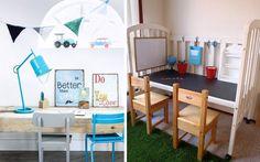 Ideas para decorar el cuarto de los niños con escritorios infantiles
