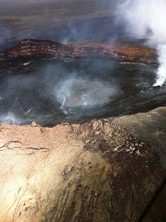 Pu'u O'o Vent, Kilauea Volcano, Big Island of Hawaii  Paradise Helicopters