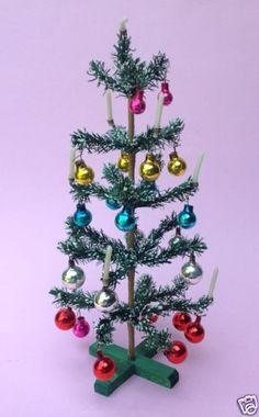 Antik-Spielzeug-Tannenbaum-Christbaum-Weihnachtsbaum-Puppenstube-Puppenhaus-50
