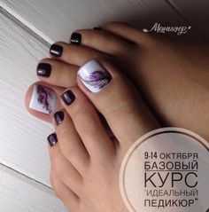 Best ideas for pedicure elegante toe nails Toe Nail Color, Toe Nail Art, Nail Colors, Pretty Toe Nails, Cute Toe Nails, Pedicure Nail Art, Pedicure Designs, Pedicure Ideas, Nail Arts