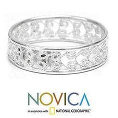 Sterling Silver Royal Filigree Ring