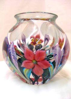 Hand Blown Glass Mixed Bouquet Bowl by David Lotton Glass Design
