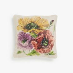 Image of the product Floral print linen cushion cover
