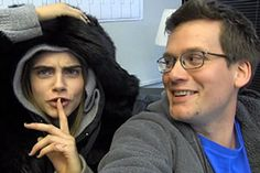 Watch John Green Ask Cara Delevingne a Bunch of Awkward Questions, Including What It's Like Smooching Nat Wolff, Paper Towns is being made into a movie!