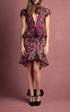 Johanna Ortiz Julia Cornelia Floral Embellished Dress