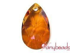 Austrian Swarovski Crystal Elements 6106 Almond 38mm - Copper
