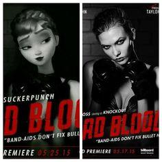 """Anna as """"Suckerpunch"""" - Karlie Kloss as""""Knockout"""" (Bad Blood)"""