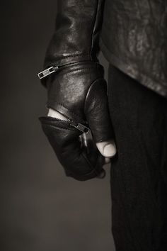 an entire outfit of zips and leather - sparafucile? Men's Jewellery #mensfashion #mensjewellery www.urban-male.com