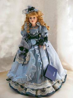 "Limited Edition German Porcelain Doll Miss Emily 22 7"" | eBay"