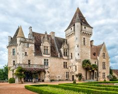 "wanderthewood: ""Château des Milandes, Dordogne, France by philhaber "" Beautiful Castles, Beautiful Buildings, Beautiful Places, Chateau Medieval, Medieval Castle, French Castles, Fantasy Castle, Castle House, Dordogne"