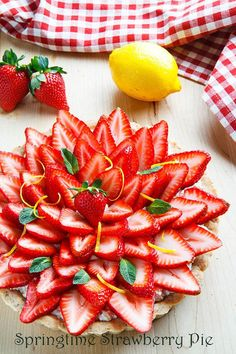 Springtime Strawberry Pie #JustAddStrawberries http://bit.ly/1oV49Rc