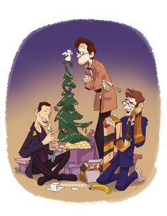 Doctor Who Holiday Card  DIY by tumblebuggie on Etsy, $3.50