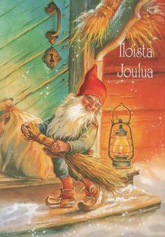 "Photo from album ""Lars Carlsson"" on Yandex. Christmas Mood, Vintage Christmas, Christmas Crafts, Paint Cards, Christmas Illustration, Vintage Cards, Beautiful Christmas, Yule, Faeries"