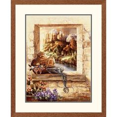 Global Gallery 'Western Pottery Window' by James Lee Framed Graphic Art Size: