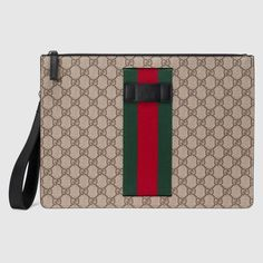 f06a18e7c Shop the GG Supreme men's bag by Gucci. The Web is found along the front