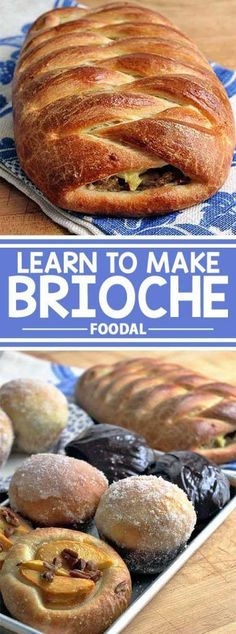 Learn all you need to know to create tender, buttery brioche dough. Turn it into sandwich loaves, doughnuts, hand pies, and more. Find the recipe on Foodal. Sandwich Loaf, Sandwich Recipes, Healthy Bread Recipes, Donut Recipes, Dinner Rolls Recipe, Hand Pies, Pastry Recipes, Artisan Bread, Sweet Bread