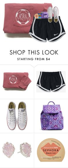 """""""soccer starting soon!"""" by southernmermaid ❤ liked on Polyvore featuring NIKE, Converse, Vera Bradley, Kendra Scott, CamelBak, Sephora Collection, converse, soccer, monogram and verabradley"""