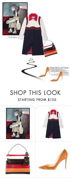 """""""Fall Style With The RealReal: Contest Entry"""" by theitalianglam ❤ liked on Polyvore featuring 1000Museums, La Femme, Prada, Valentino and Christian Louboutin"""