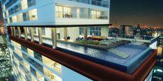 Essa é a maior piscina suspensa de São Paulo! Tem raia de 50 metros (olímpica) e está localizada no 15º andar do London SP, na Consolação, com vista panorâmica para o Centro de São Paulo.