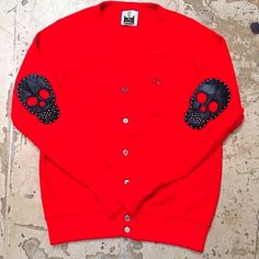 Skull patch sweater
