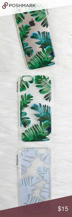 "green tropical leaf iPhone 6/6s phone case •iPhone 6/6s (4.7"") •flexible silicone •phone not included •no trades B-Long Boutique Accessories Phone Cases"
