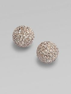 these Michael Kors-Sparkling Pavé Button Earrings are so pretty. Button Earrings, Stud Earrings, Golden Earrings, Diamond Earrings, Jewelry Accessories, Fashion Accessories, Closet Accessories, Diamond Are A Girls Best Friend, Mode Style