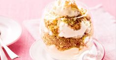 Pretty as a picture, this quick and easy dessert really takes the cake.