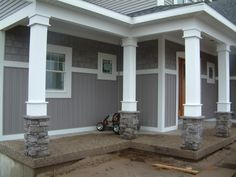 Exterior Porches Column Ideas | of Front Porch Columns post which is ...