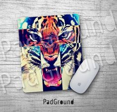 Tiger Cross Mousepads, Mouse Pad, Mouse Mat, Animal Accessories, Office Decor, Dorm Decor, Home Decor, Holiday Gift, Housewarming Gift -TG01