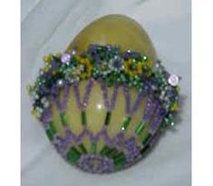 Floral Basket Egg Beading Pattern at Sova-Enterprises.com
