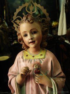 Delicado Niño Jesús del Sagrado Corazón bendiciendo ppsXX